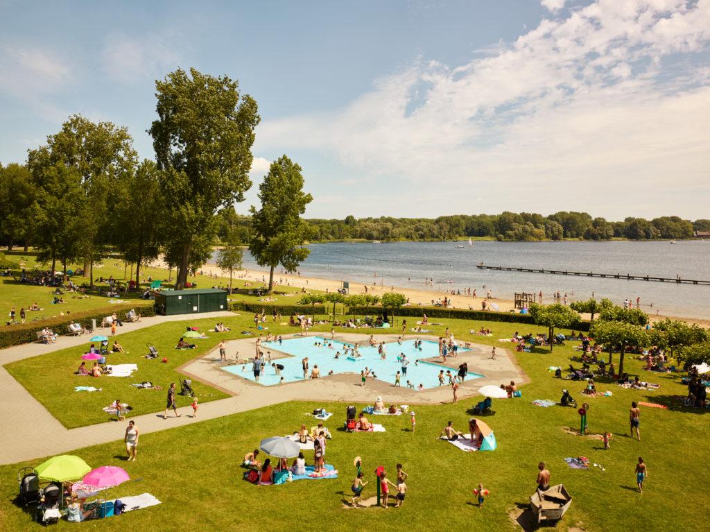 Kralingse Plas, Rotterdam, in de zomer