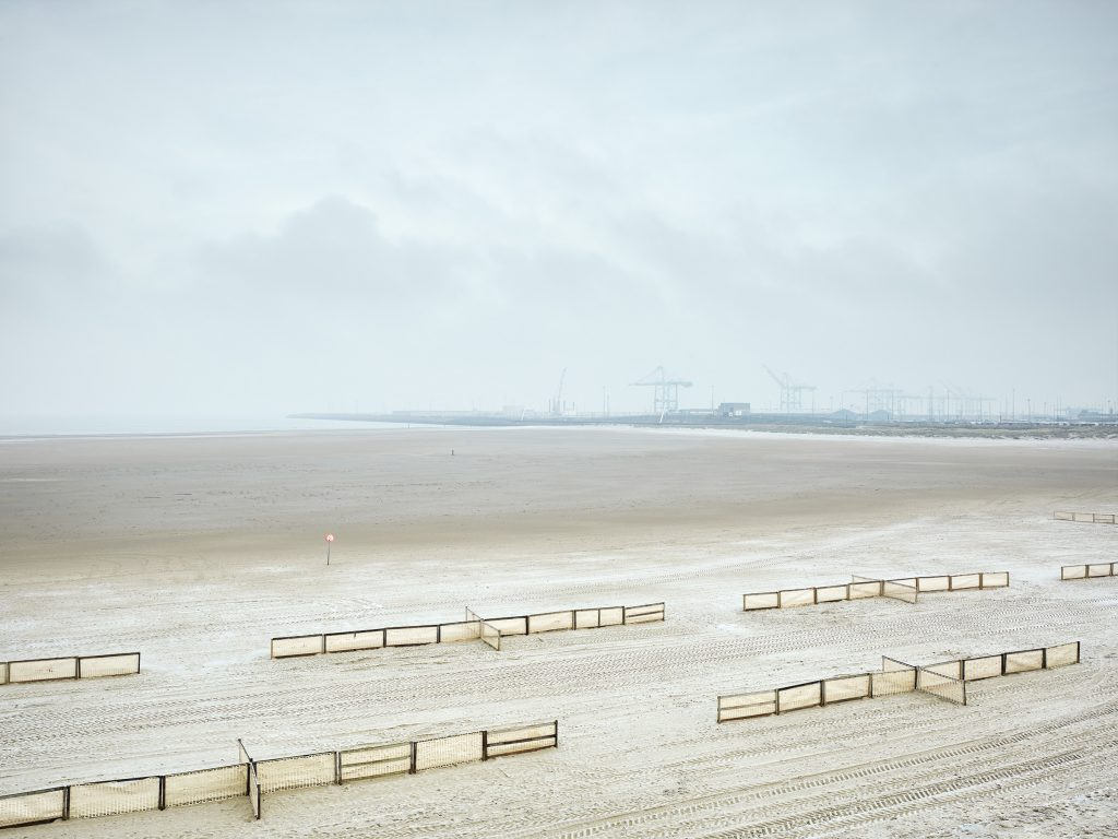 Zeebrugge, haven, strand, winter